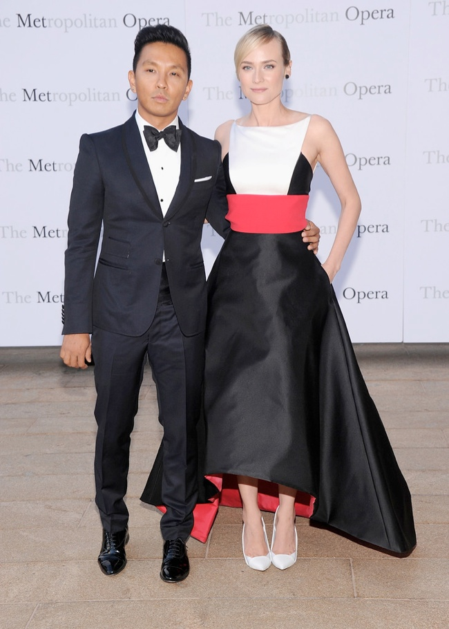 diane kruger prabal gurung2 Diane Kruger Wears Prabal Gurung at The Metropolitan Opera