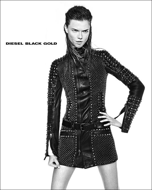 Kasia Struss Rocks Diesel Black Gold's Fall 2013 Ads by Kevin Sinclair