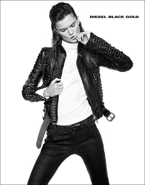diesel black gold2 Kasia Struss Rocks Diesel Black Golds Fall 2013 Ads by Kevin Sinclair