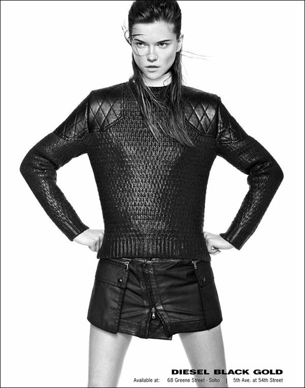 diesel black gold3 Kasia Struss Rocks Diesel Black Golds Fall 2013 Ads by Kevin Sinclair