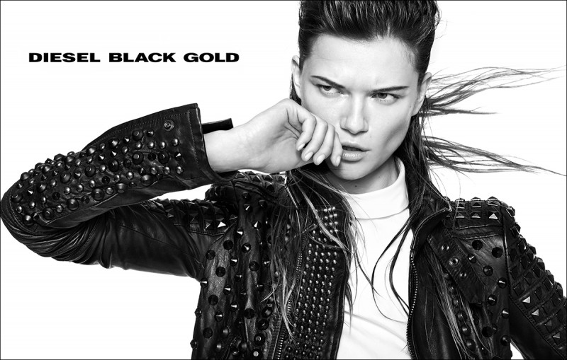 diesel black gold4 800x509 Kasia Struss Rocks Diesel Black Golds Fall 2013 Ads by Kevin Sinclair