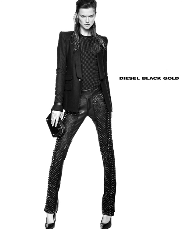 diesel black gold5 Kasia Struss Rocks Diesel Black Golds Fall 2013 Ads by Kevin Sinclair