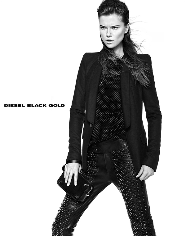 diesel black gold6 Kasia Struss Rocks Diesel Black Golds Fall 2013 Ads by Kevin Sinclair