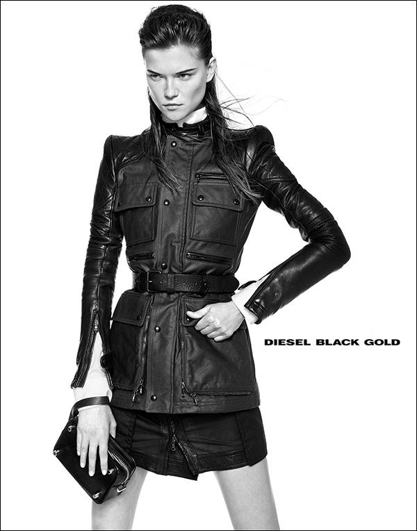 diesel black gold7 Kasia Struss Rocks Diesel Black Golds Fall 2013 Ads by Kevin Sinclair