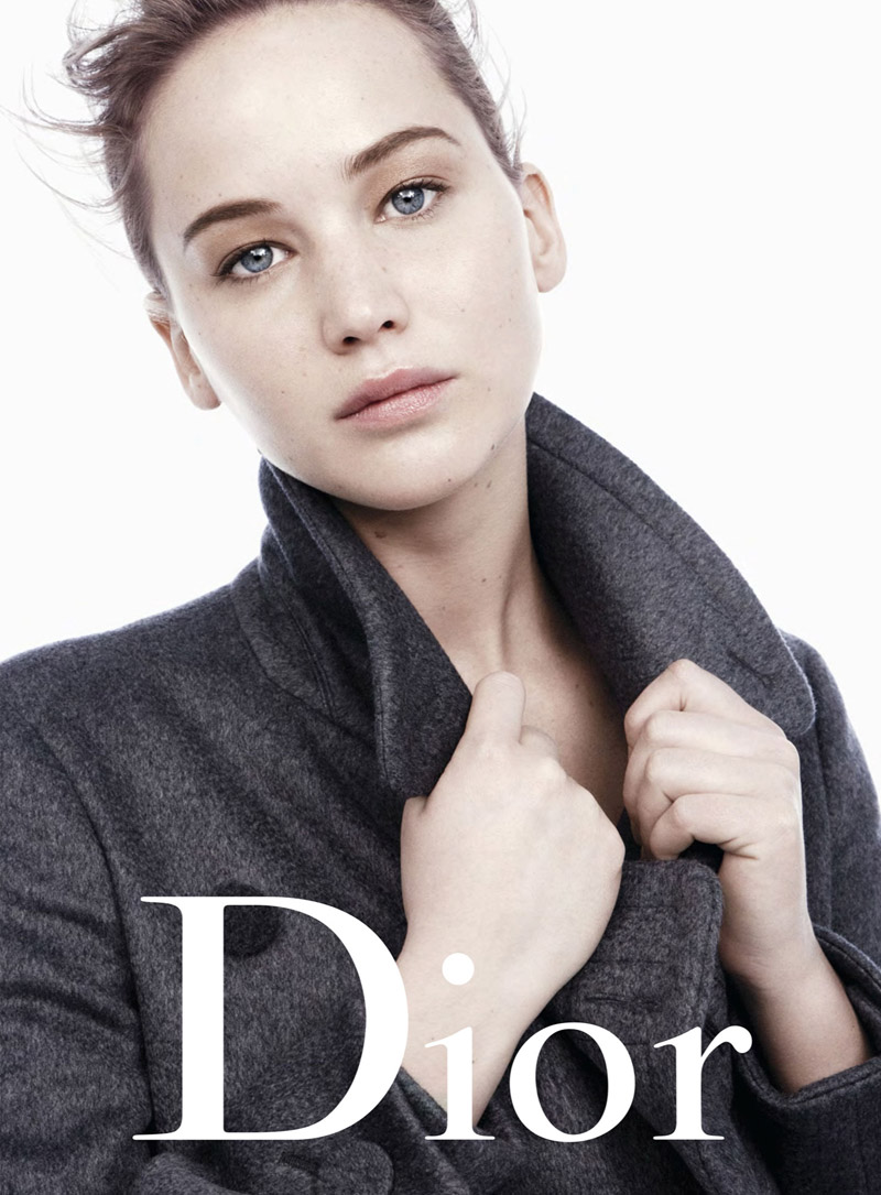dior jennifer ad43 Jennifer Lawrence Models Miss Dior Handbags for Fall 2013 Campaign