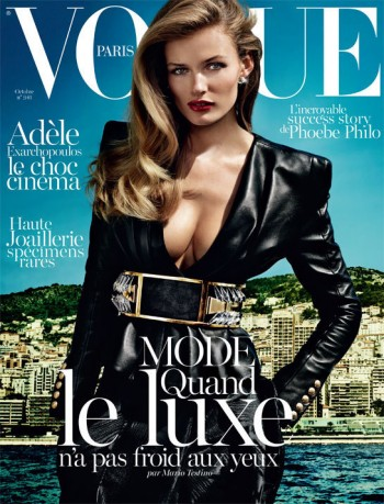 Edita Vilkeviciute Gets Her First Vogue Paris Cover for October 2013