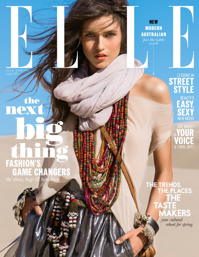See Elle Australia's Premier Cover with Gabby Westbrook-Patrick