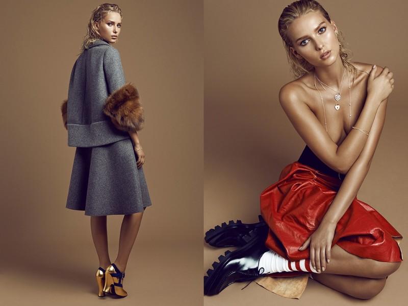 Top Czech Models Pose for Branislav Simoncik in Elle October 2013   Fashion Gone Rogue