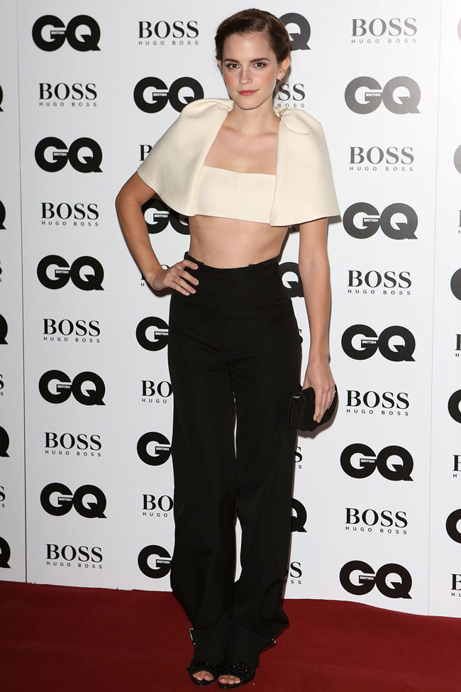emma watson balenciaga2 Emma Watson Wears Balenciaga at the 2013 GQ Men of the Year Awards