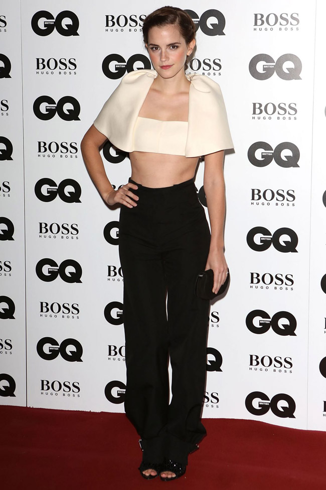 emma watson balenciaga3 Emma Watson Wears Balenciaga at the 2013 GQ Men of the Year Awards