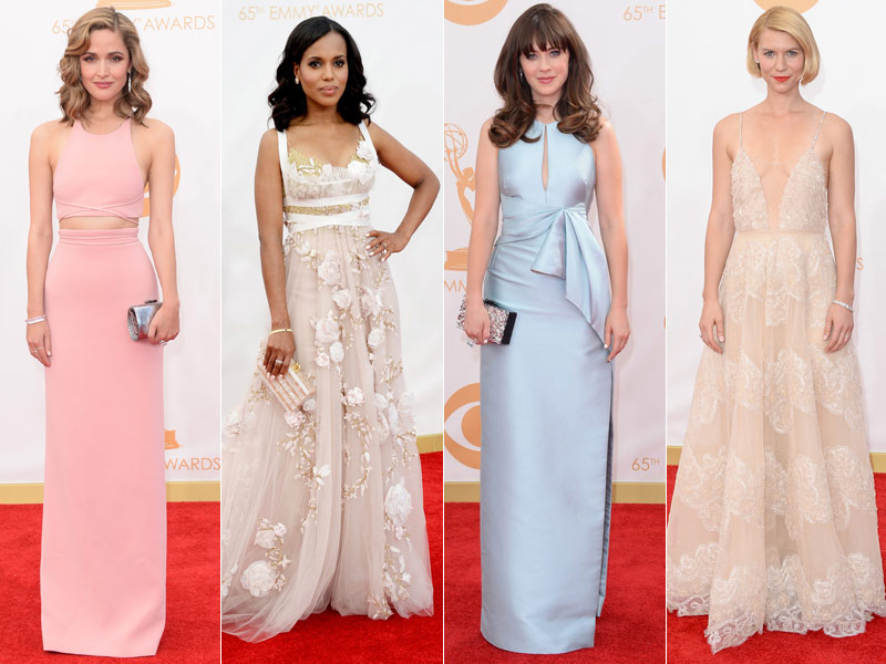 emmys dress red carpet Kerry Washington in Marchesa, Claire Danes in Armani + More EMMY Award Style