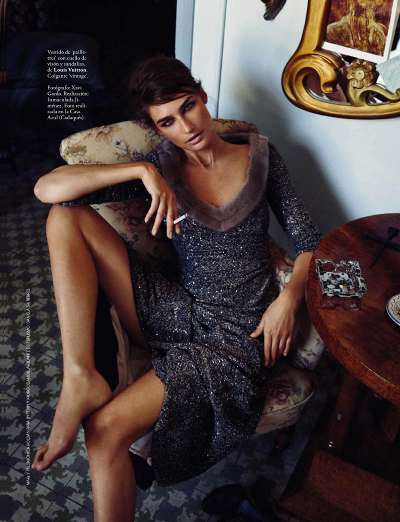 eugenia xavi gordo10 Eugenia Volodina Gets Glam for Xavi Gordo in Elle Spain October 2013