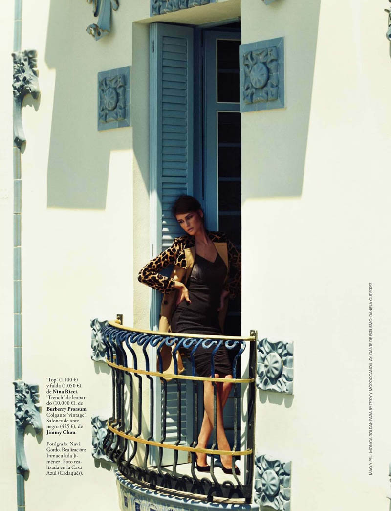 eugenia xavi gordo11 Eugenia Volodina Gets Glam for Xavi Gordo in Elle Spain October 2013