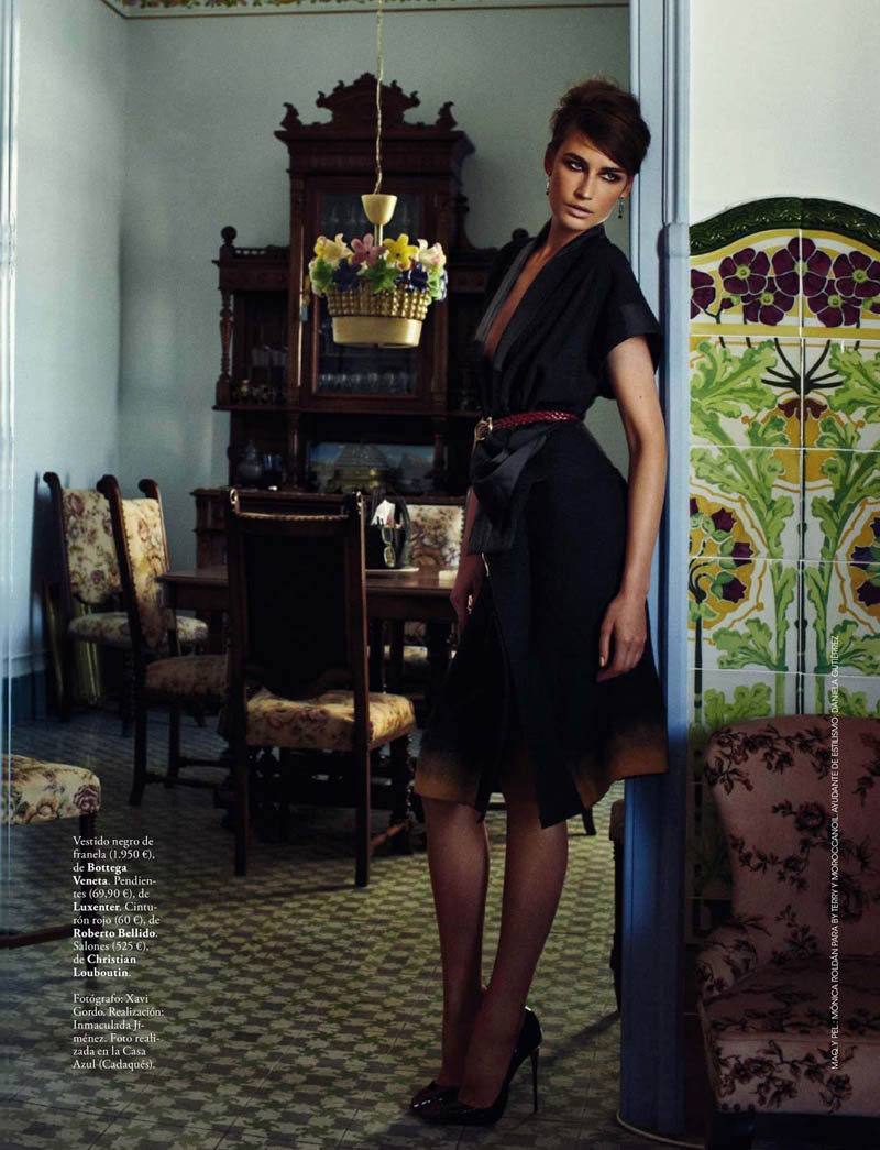 eugenia xavi gordo14 Eugenia Volodina Gets Glam for Xavi Gordo in Elle Spain October 2013
