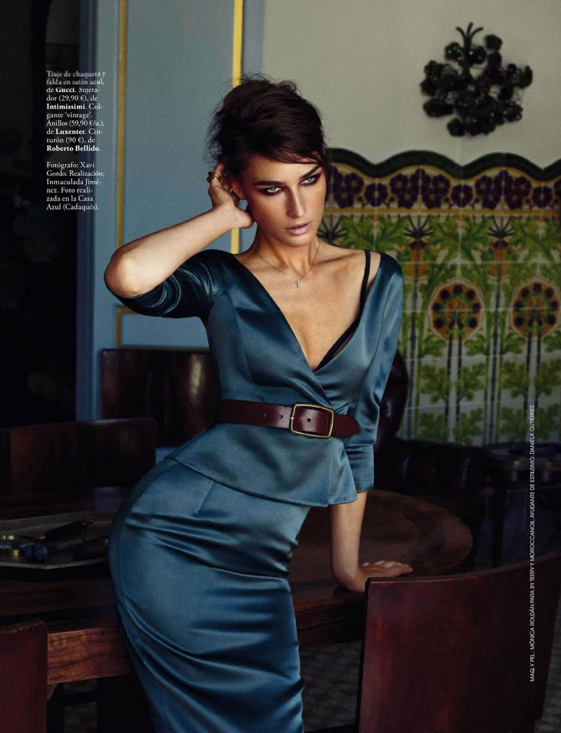 eugenia xavi gordo18 Eugenia Volodina Gets Glam for Xavi Gordo in Elle Spain October 2013