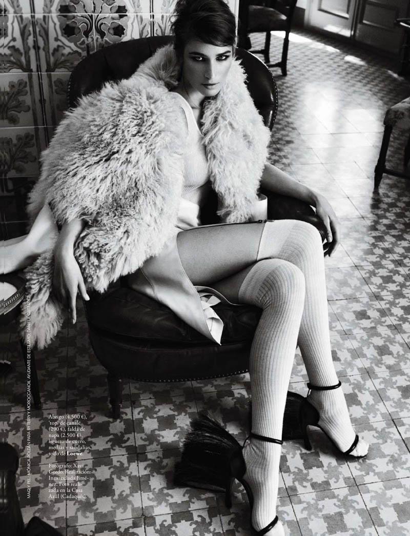 Eugenia Volodina Gets Glam for Xavi Gordo in Elle Spain October 2013