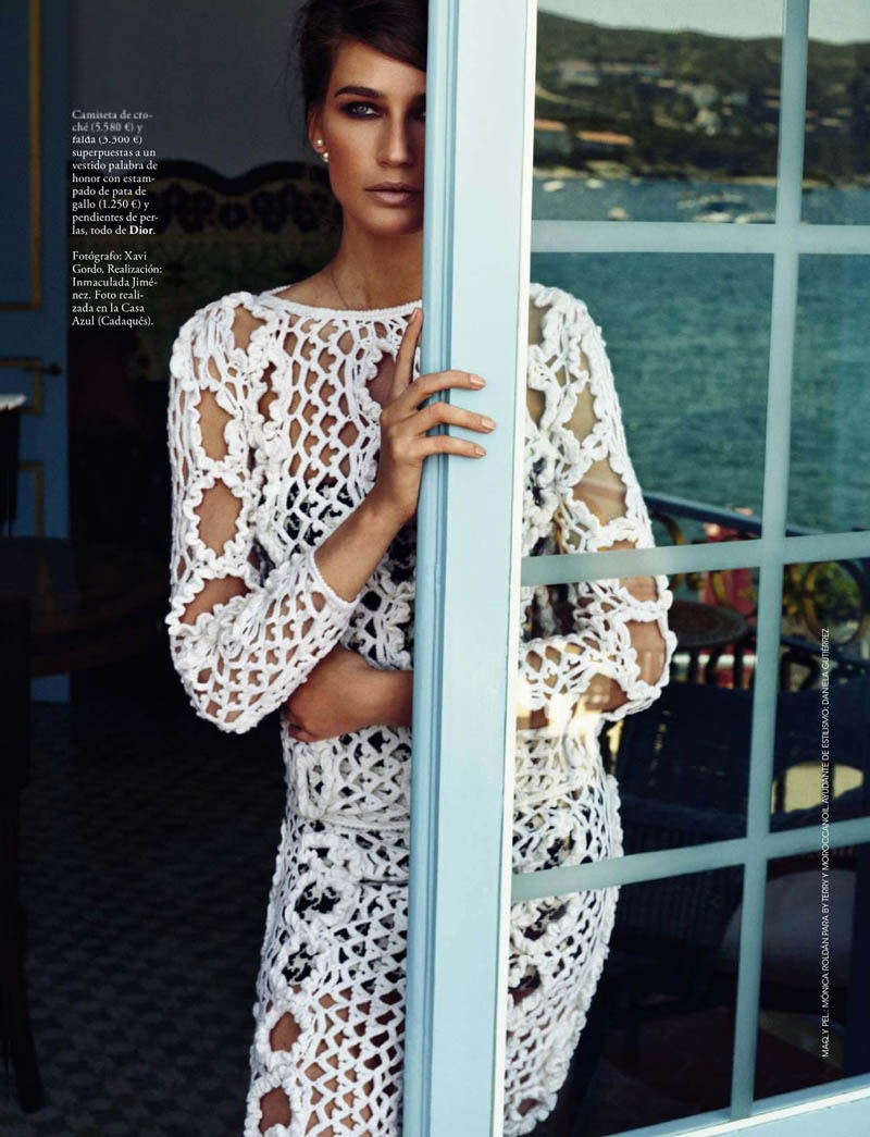 eugenia xavi gordo9 Eugenia Volodina Gets Glam for Xavi Gordo in Elle Spain October 2013
