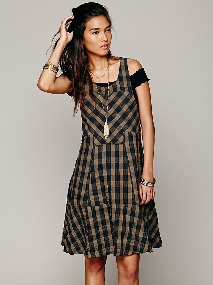 free people plaid dress 6 Plaid Looks Inspired by Fall Runway Style