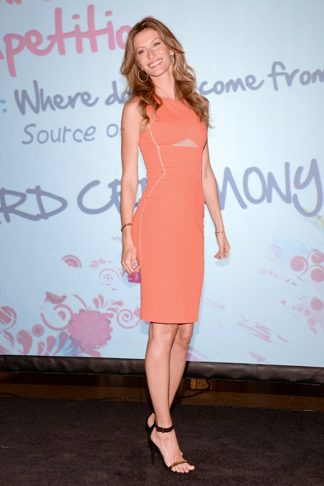 Gisele Bundchen Wears J. Mendel at the UN Champions of The Earth Awards