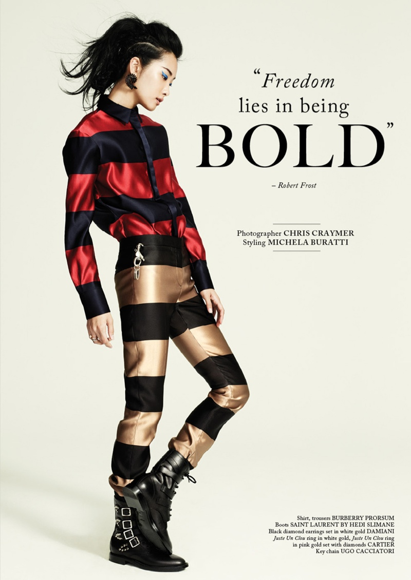 glass shoot1 Kwak Ji Young Wears Bold Styles for Glass Magazine by Chris Craymer