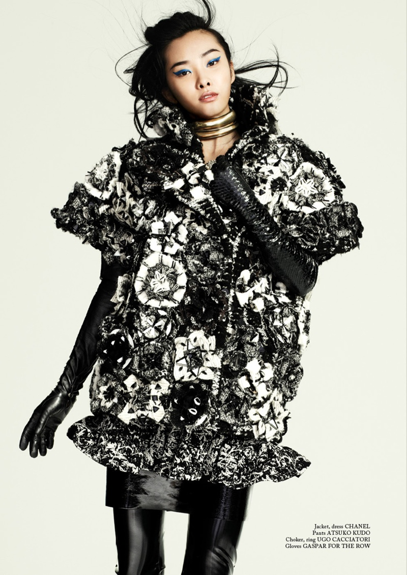 glass shoot2 Kwak Ji Young Wears Bold Styles for Glass Magazine by Chris Craymer