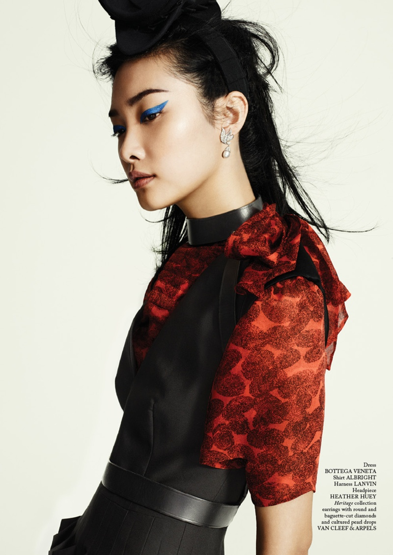 Kwak Ji Young Wears Bold Styles for Glass Magazine by Chris Craymer