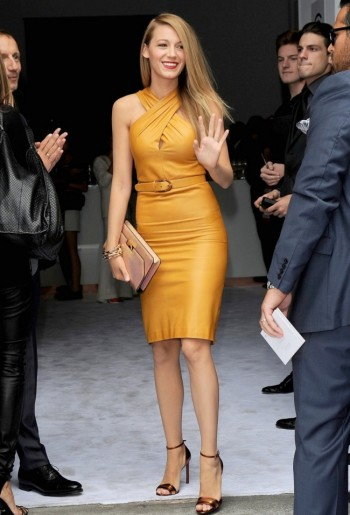 Blake Lively Wears Gucci at Milan Fashion Week