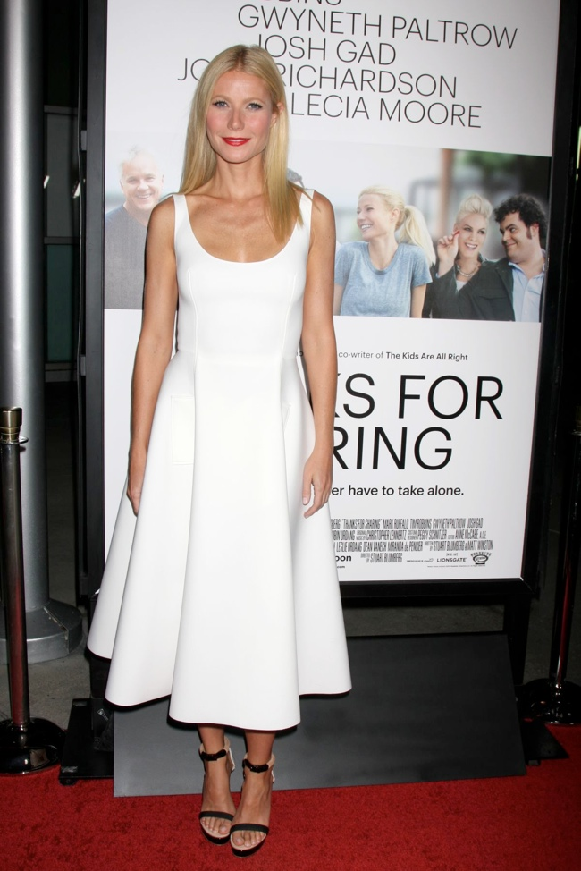 gwyneth lanvin1 Gwyneth Paltrow Wears Lanvin at the Thanks for Sharing Hollywood Premiere