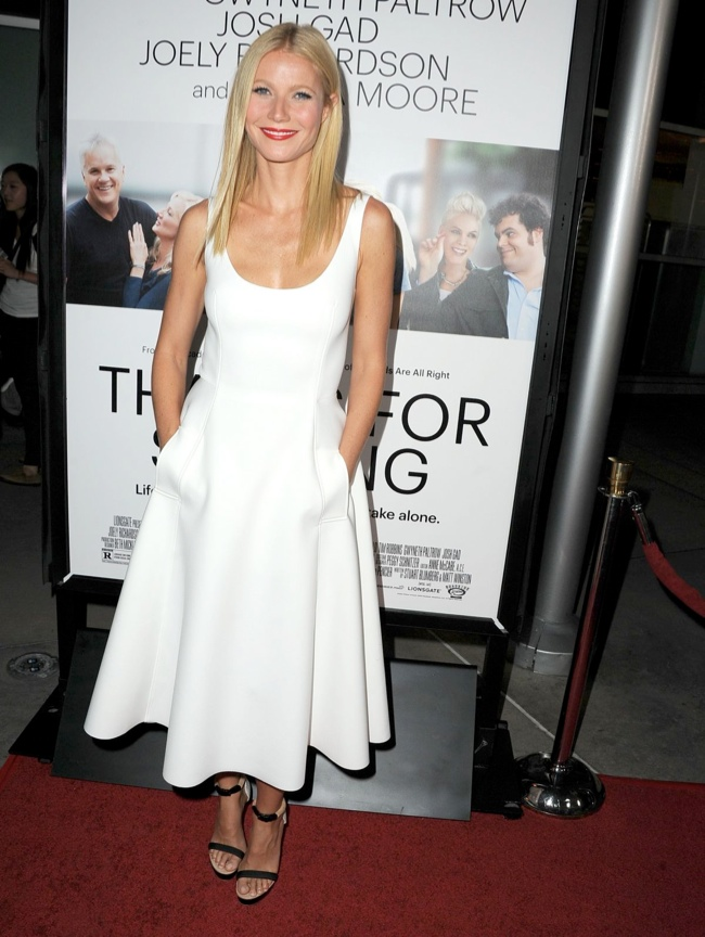 gwyneth lanvin2 Gwyneth Paltrow Wears Lanvin at the Thanks for Sharing Hollywood Premiere