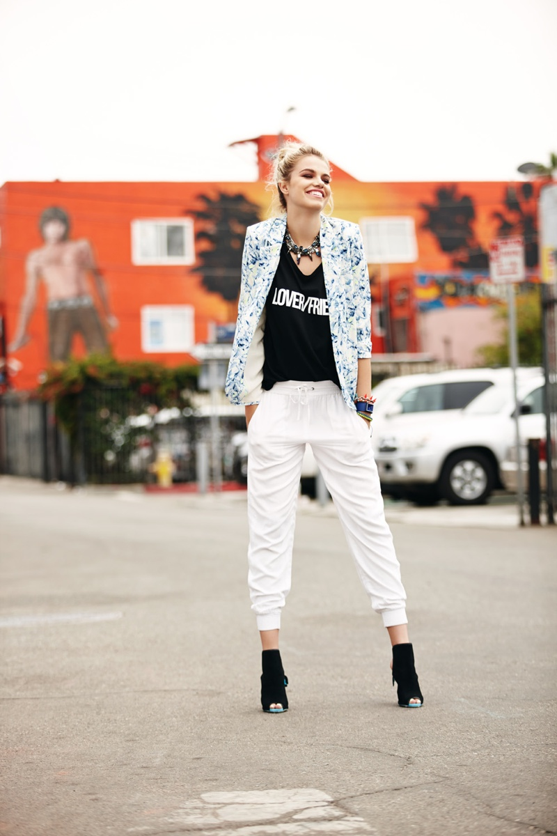hailey lovers friends6 Hailey Clauson Hits Venice Beach for Lovers + Friends Spring 2014 Lookbook