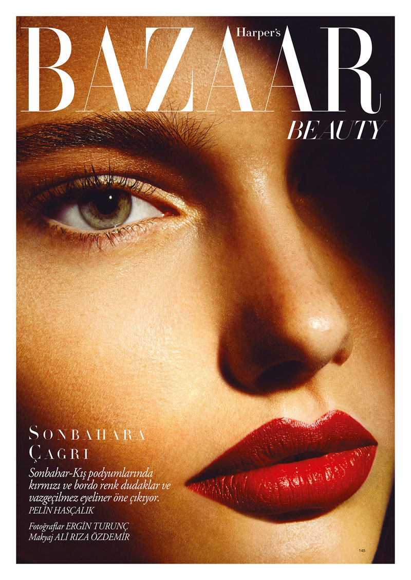 harpersbazaar1 Laura Upeniece Gets Up Close in Harpers Bazaar Turkey by Ergin Turunc