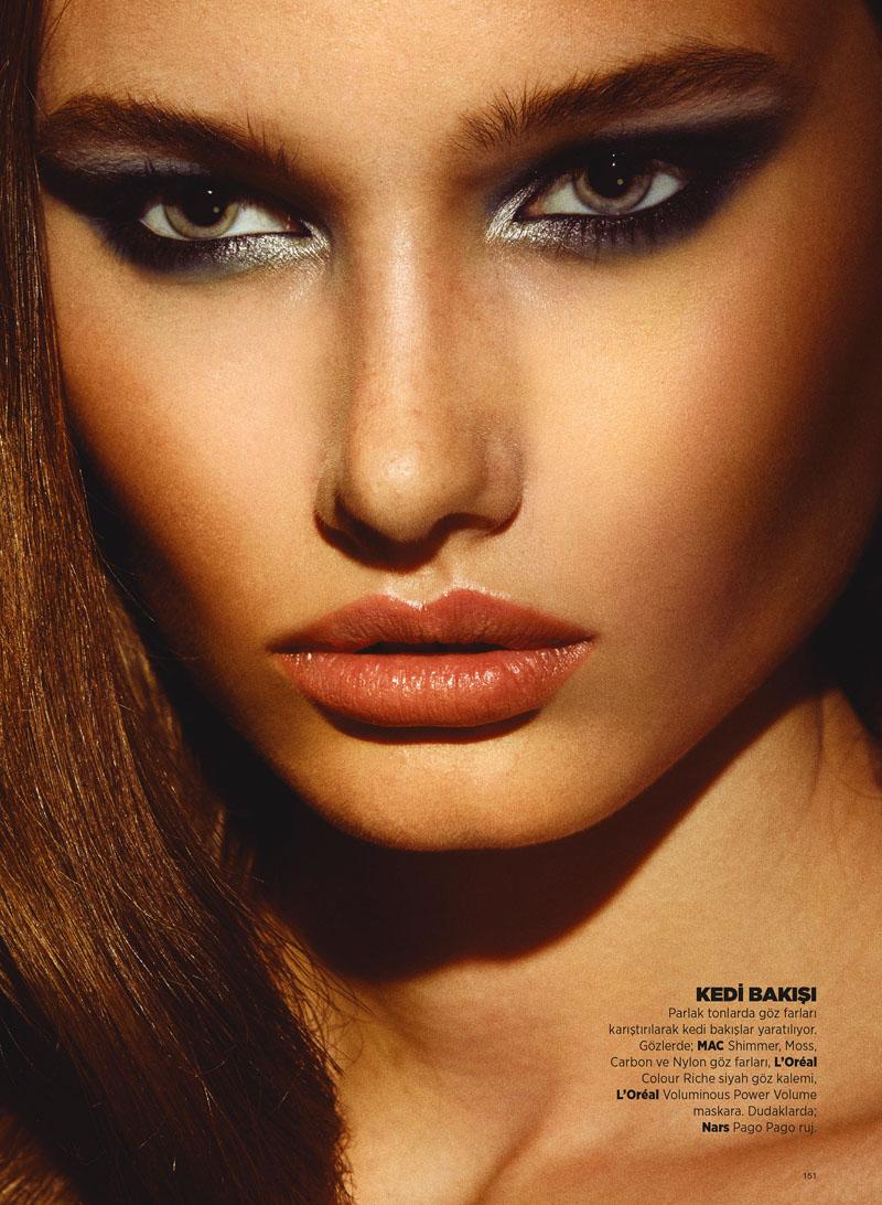 Laura Upeniece Gets Up Close in Harper's Bazaar Turkey by Ergin Turunc