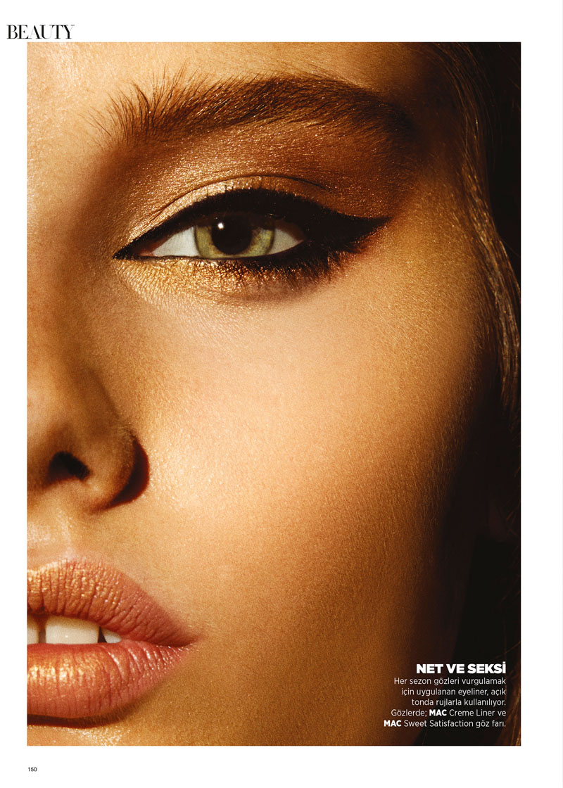 harpersbazaar5 Laura Upeniece Gets Up Close in Harpers Bazaar Turkey by Ergin Turunc