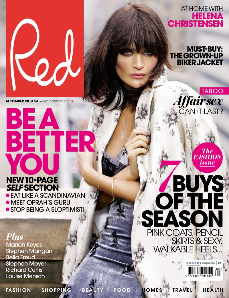 helena christensen max abadian1 Helena Christensen Models for Max Abadian in Red UK September 2013