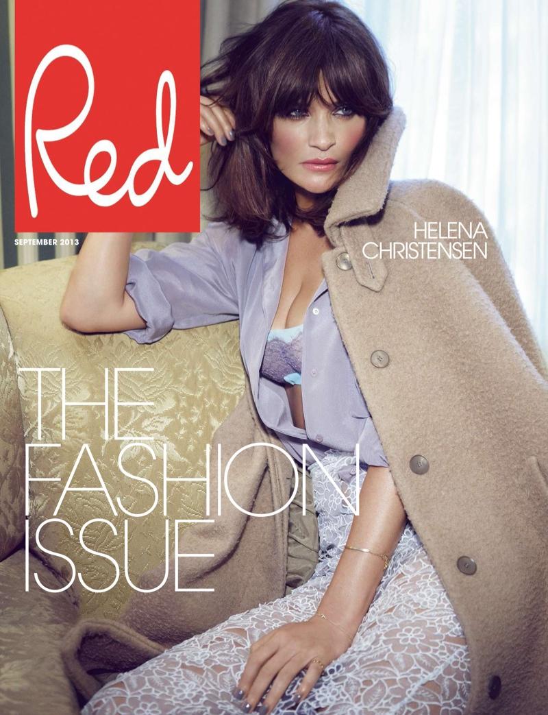 Helena Christensen Models for Max Abadian in Red UK September 2013