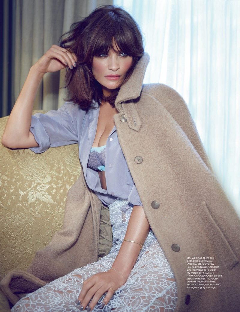 helena christensen max abadian3 Helena Christensen Models for Max Abadian in Red UK September 2013