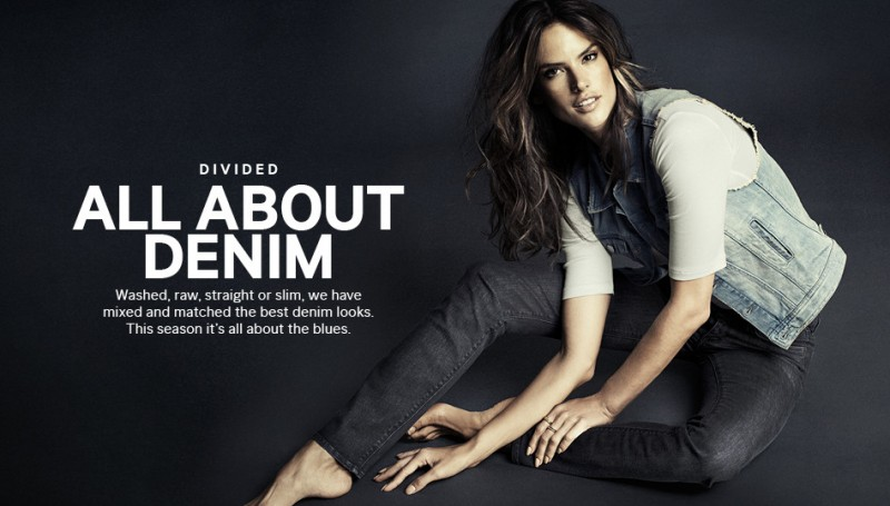 hm denim1 800x455 Alessandra Ambrosio is Hot in H&M Divided Denim