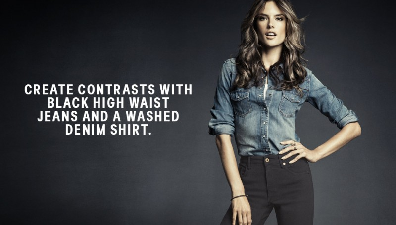 hm denim5 800x455 Alessandra Ambrosio is Hot in H&M Divided Denim