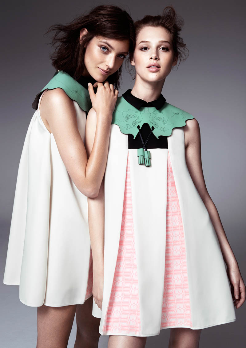 Anais Pouilot & Marikka Juhler Wear the 2013 H&M Design Award Winner's Collection
