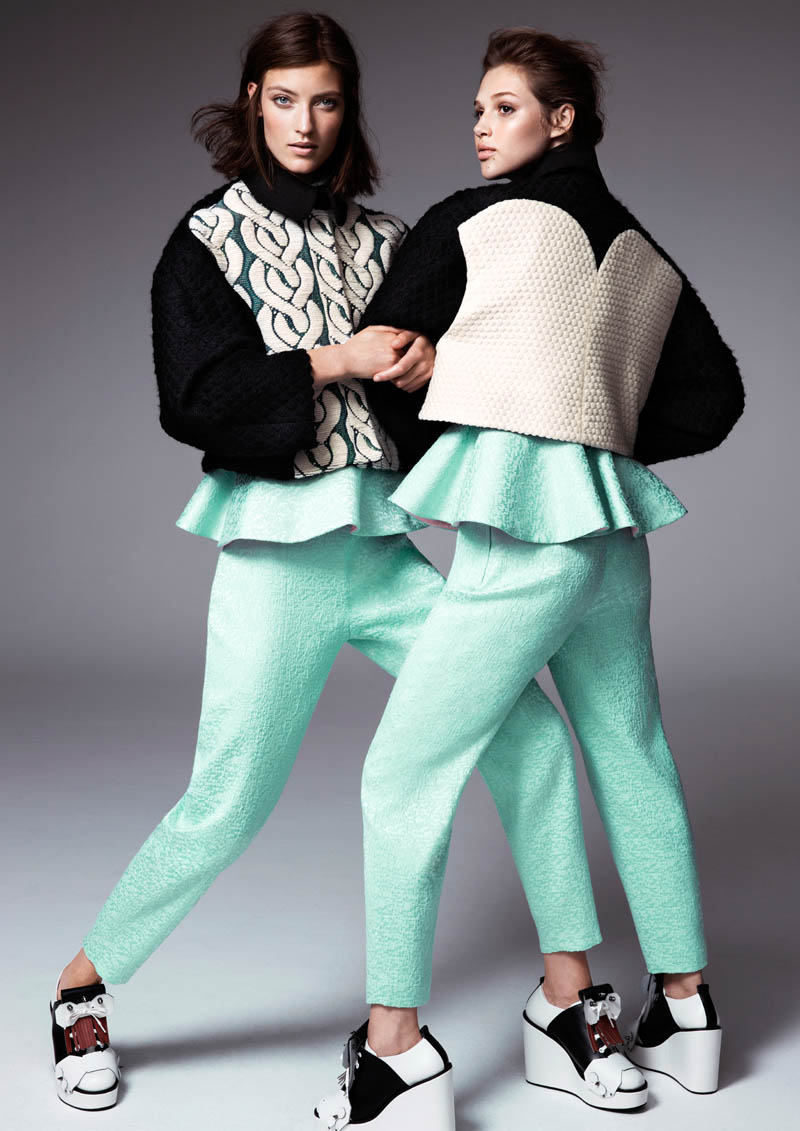 hm fashion minju kim4 Anais Pouilot & Marikka Juhler Wear the 2013 H&M Design Award Winners Collection