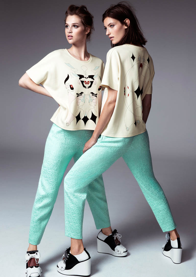 hm fashion minju kim5 Anais Pouilot & Marikka Juhler Wear the 2013 H&M Design Award Winners Collection