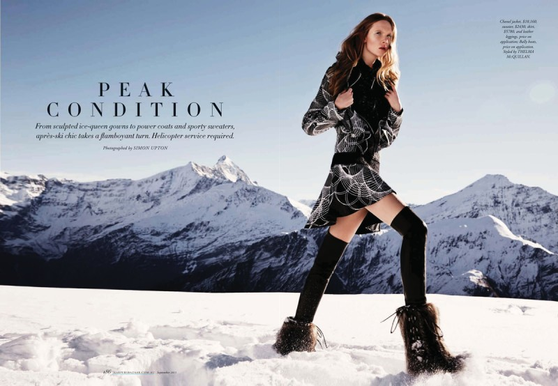 Holly Rose is An Ice Queen for Harpers Bazaar Australia by Simon Upton