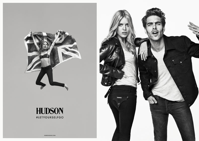 hudson jeans georgia may4 Georgia May Jagger Rocks Hudson Jeans Fall 2013 Campaign