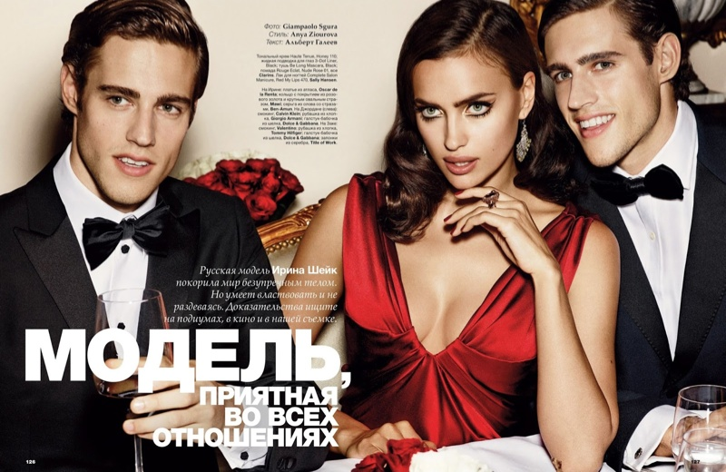 irina giampaolo sgura1 Irina Shayk is the Lady in Red for Allure Russia Spread by Giampaolo Sgura