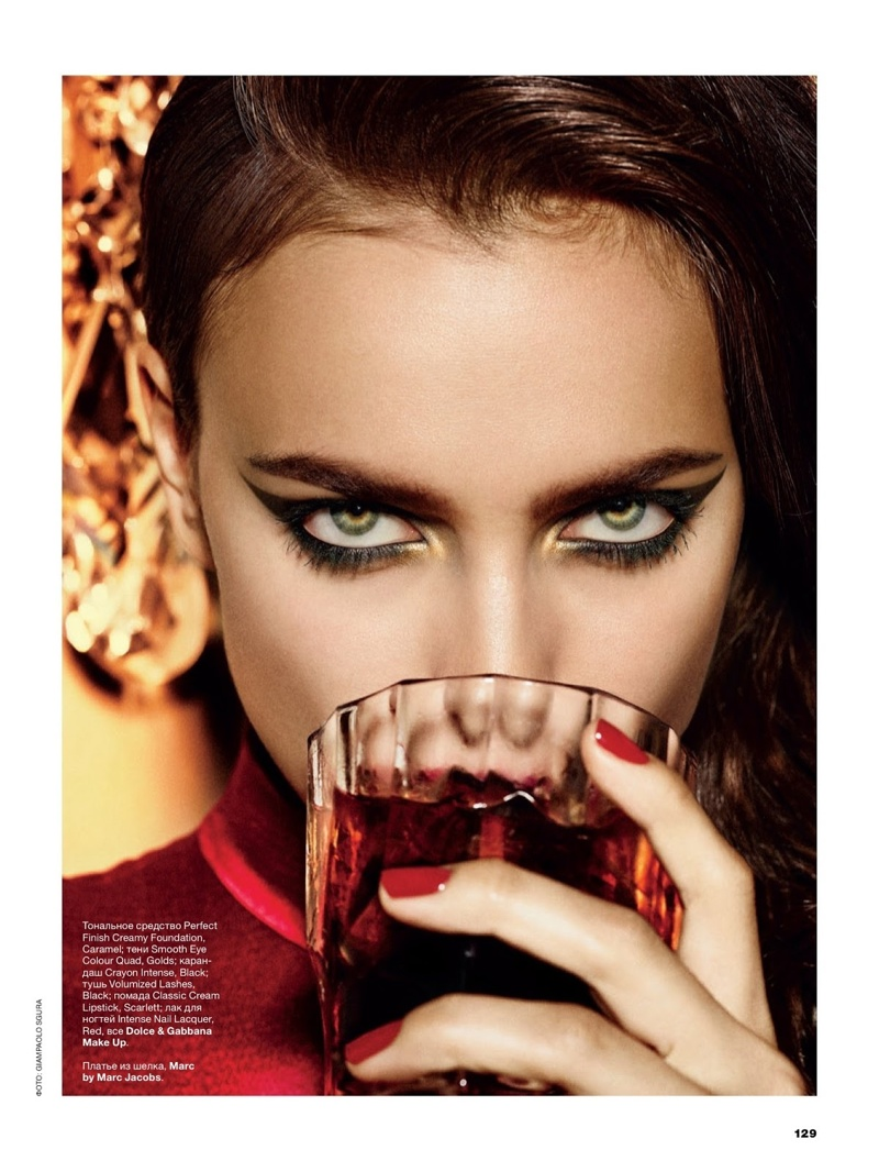 irina giampaolo sgura3 Irina Shayk is the Lady in Red for Allure Russia Spread by Giampaolo Sgura