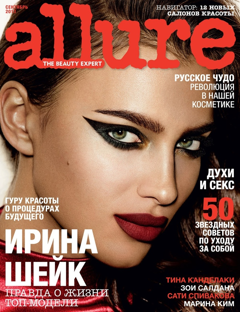 irina giampaolo sgura7 Irina Shayk is the Lady in Red for Allure Russia Spread by Giampaolo Sgura