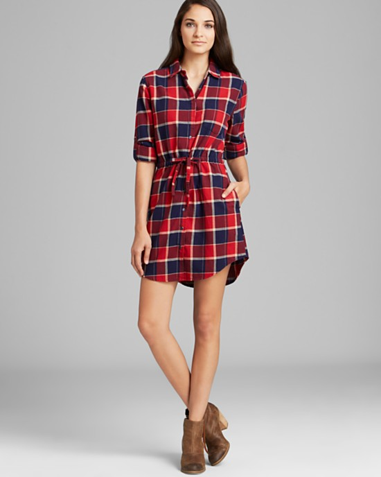 jachsgirlfriend plaid shirt 6 Plaid Looks Inspired by Fall Runway Style