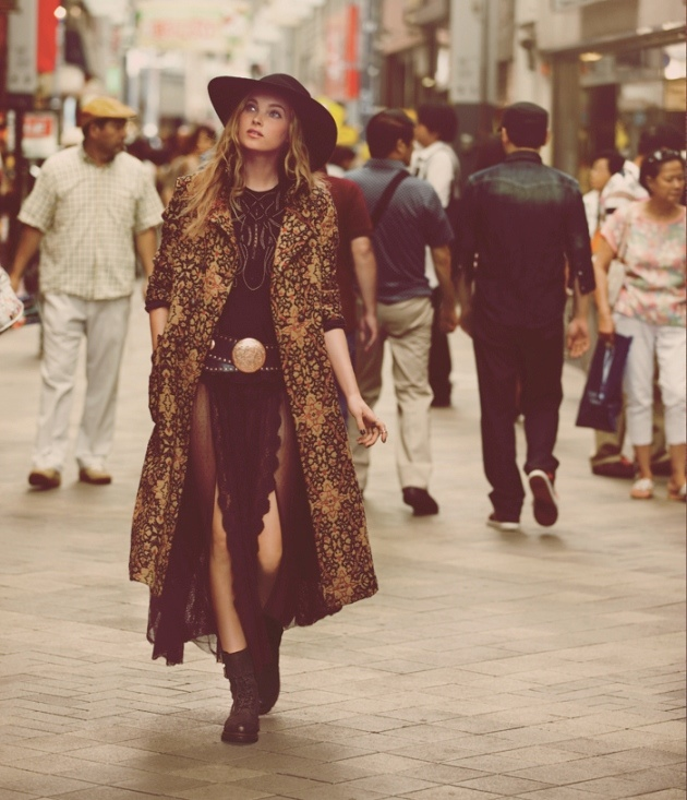 japan fp10 Elsa Hosk & Eimi Kuroda Go to Tokyo for Free People October Catalog