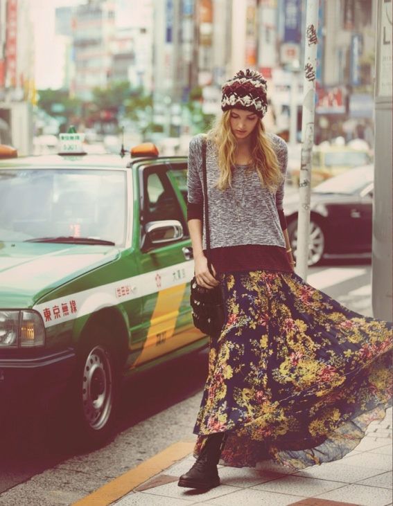 japan fp12 Elsa Hosk & Eimi Kuroda Go to Tokyo for Free People October Catalog