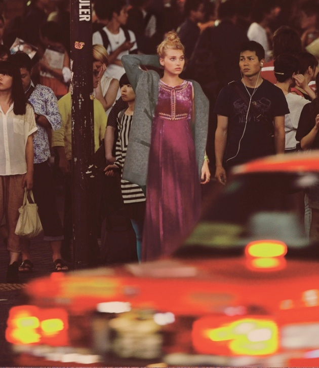 japan fp2 Elsa Hosk & Eimi Kuroda Go to Tokyo for Free People October Catalog
